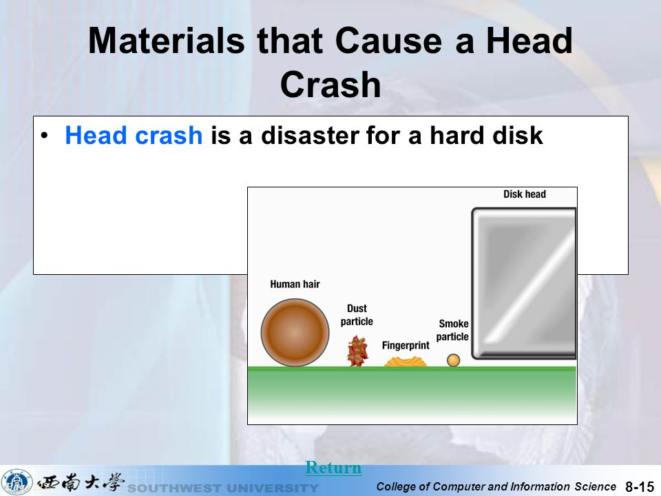 Materials that Cause a Head Crash