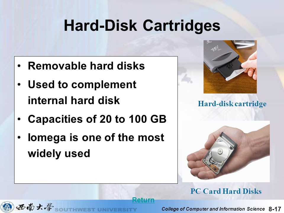 Hard-Disk Cartridges Removable hard disks