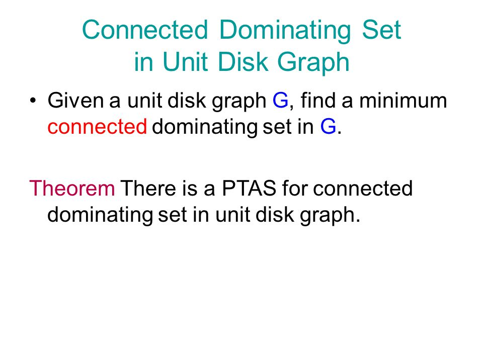 Connected Dominating Set in Unit Disk Graph