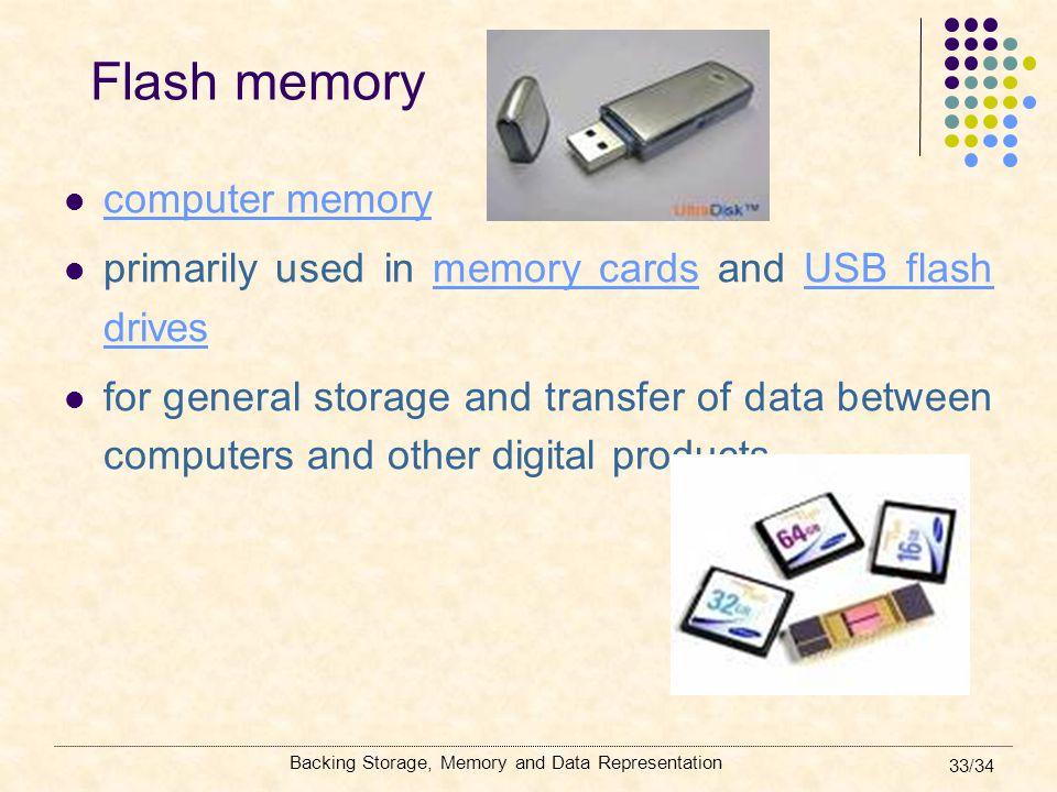 Flash memory computer memory