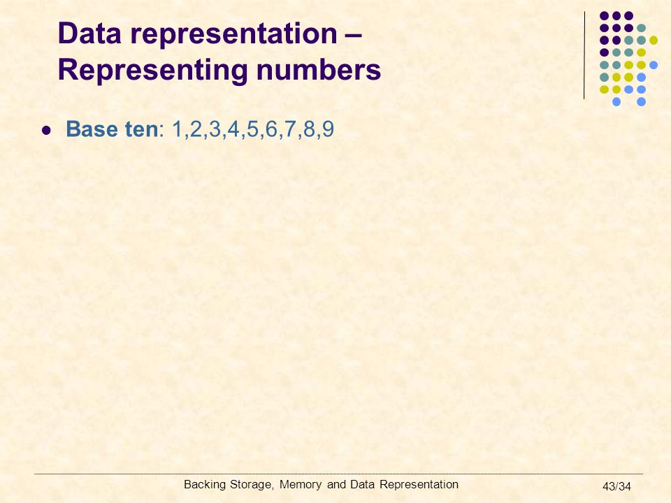 Data representation – Representing numbers