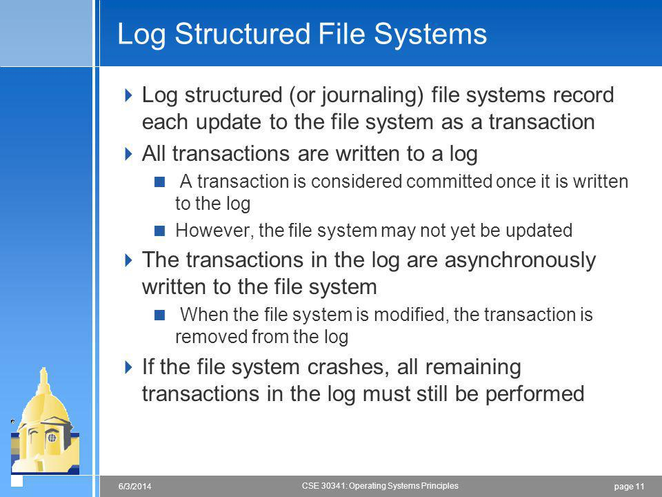 Log Structured File Systems