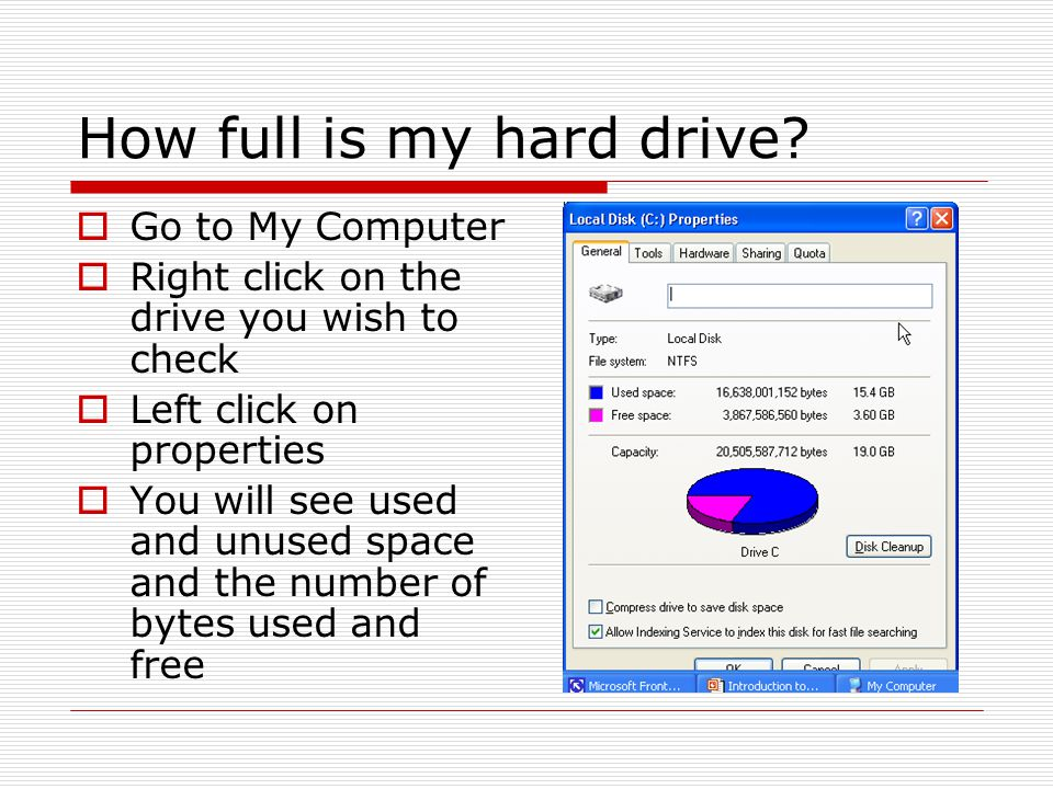 How full is my hard drive