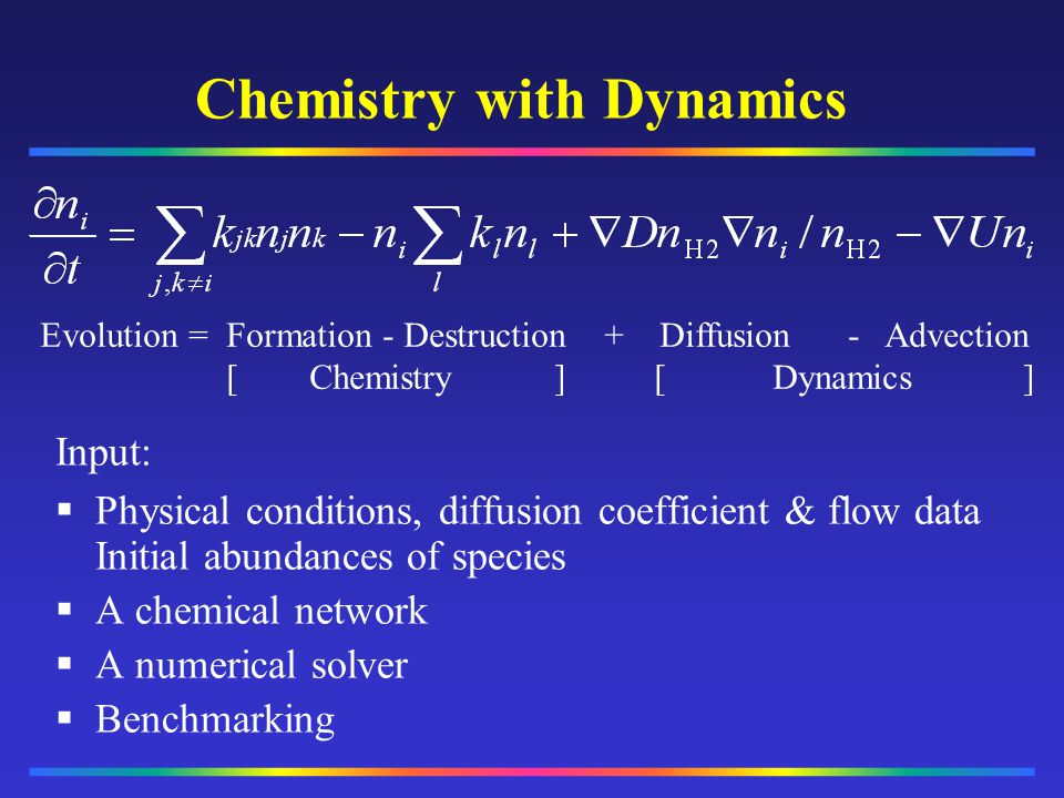 Chemistry with Dynamics
