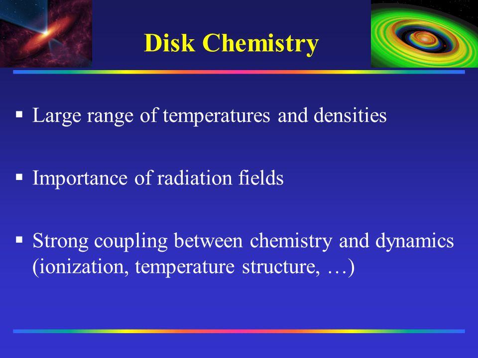 Disk Chemistry __________ __________