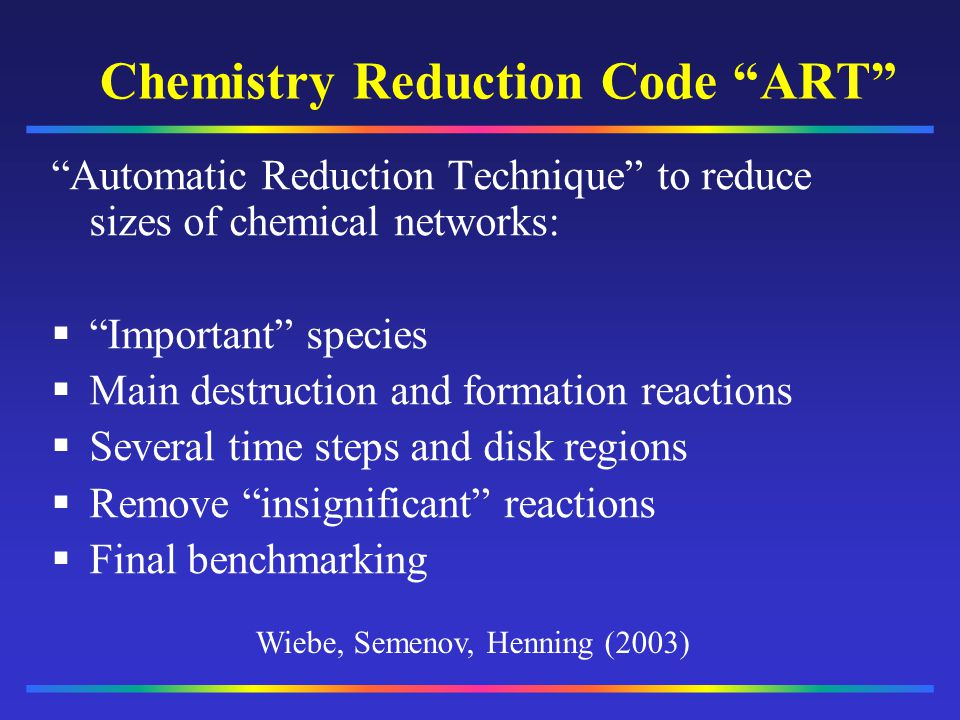 Chemistry Reduction Code ART