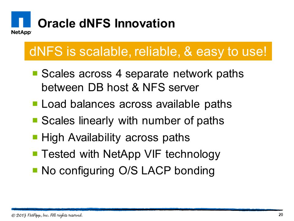 Oracle dNFS Innovation