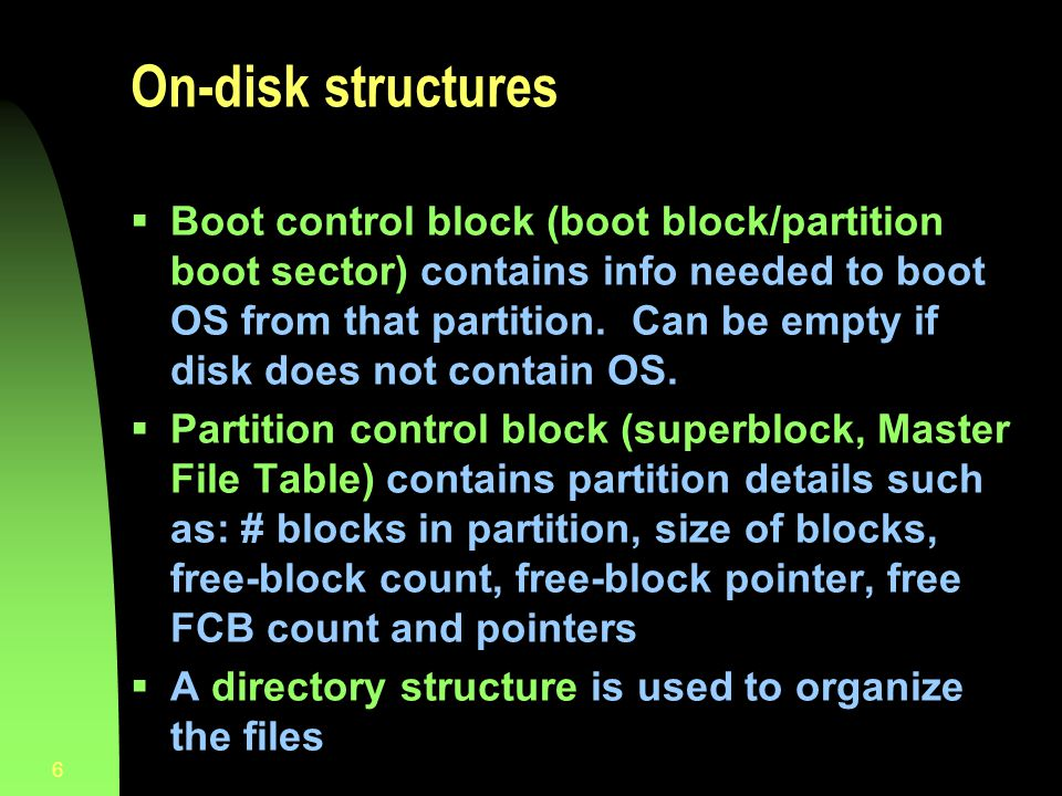 On-disk structures