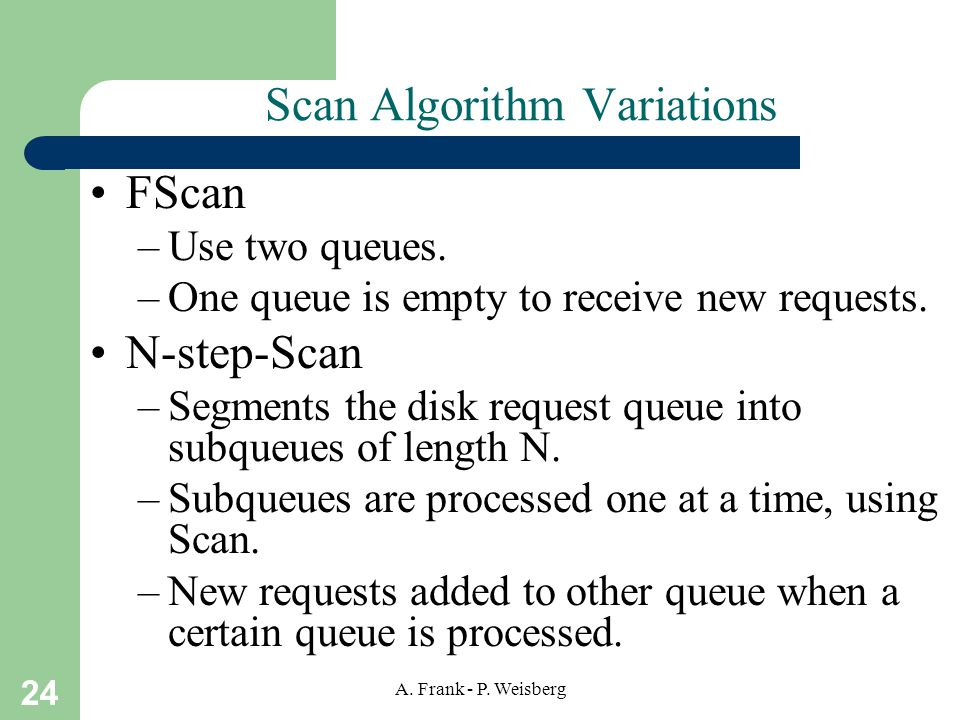 Scan Algorithm Variations