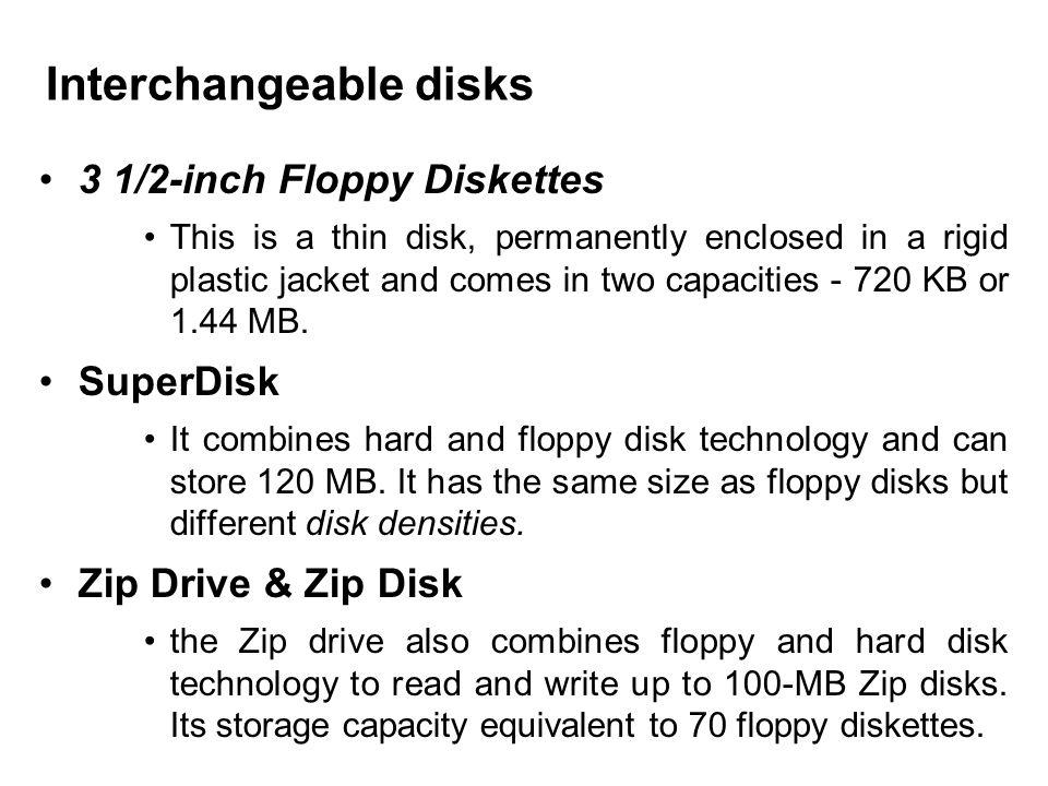 Interchangeable disks