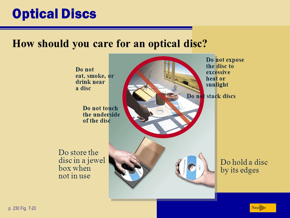 Optical Discs How should you care for an optical disc