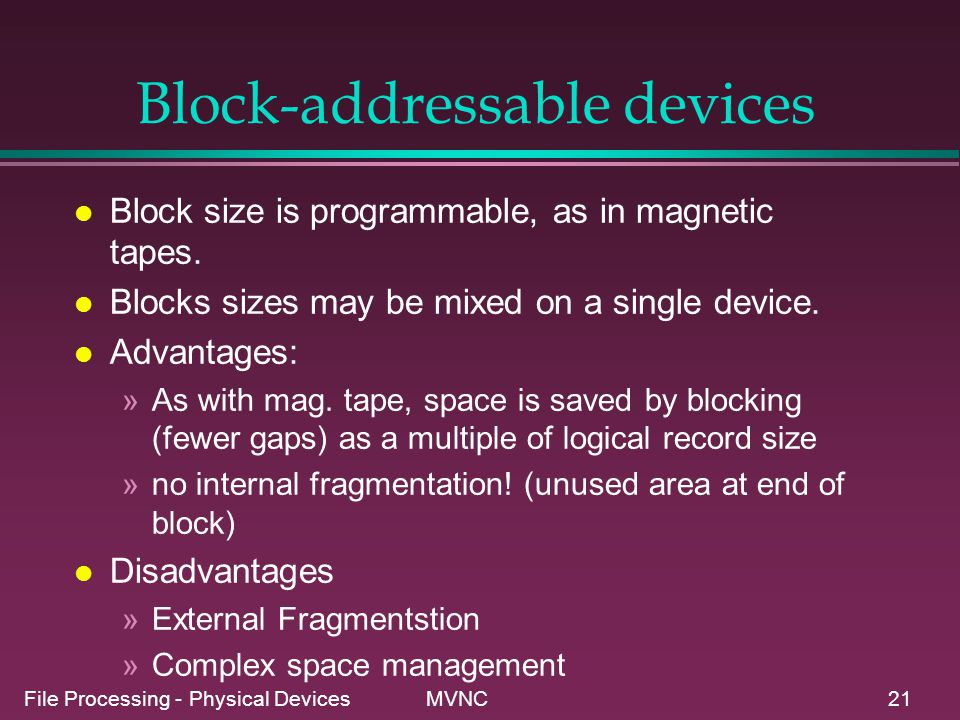 Block-addressable devices