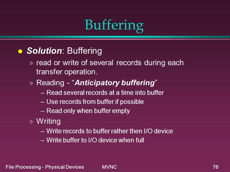 Buffering Solution: Buffering