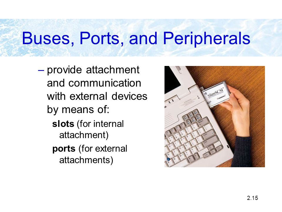 Buses, Ports, and Peripherals