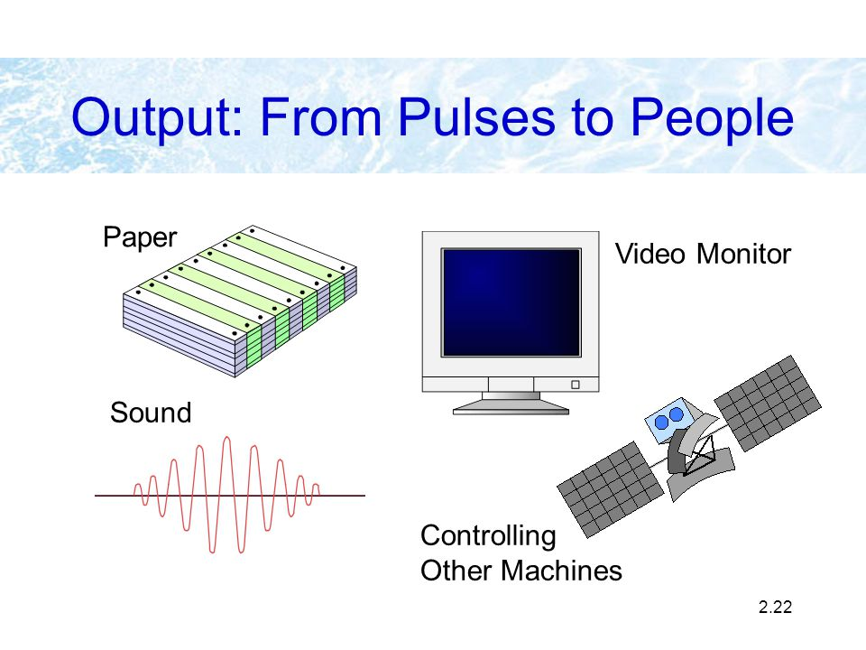 Output: From Pulses to People