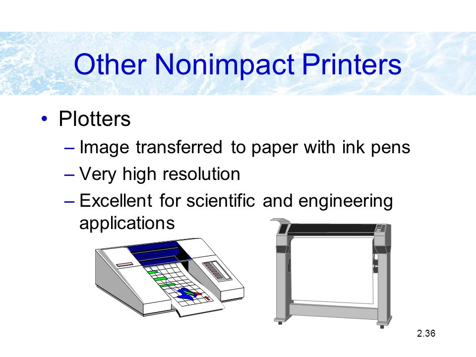 Other Nonimpact Printers
