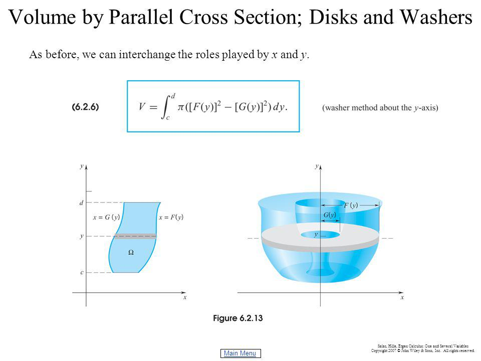 Volume by Parallel Cross Section; Disks and Washers