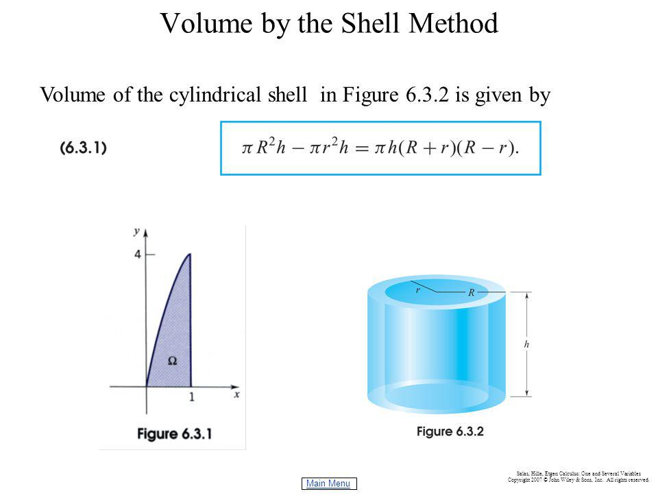 Volume by the Shell Method