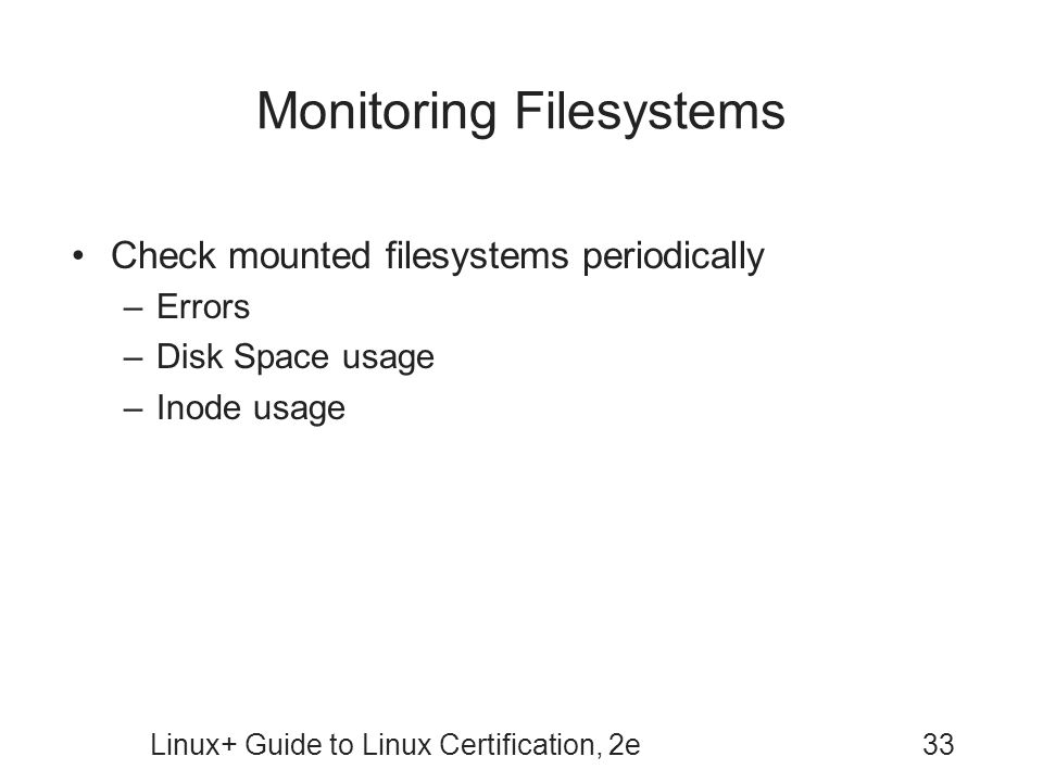 Monitoring Filesystems