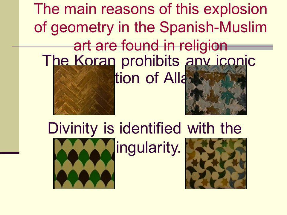 The Koran prohibits any iconic depiction of Allah.