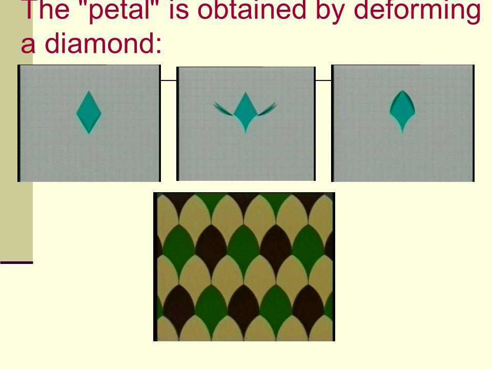 The petal is obtained by deforming a diamond:
