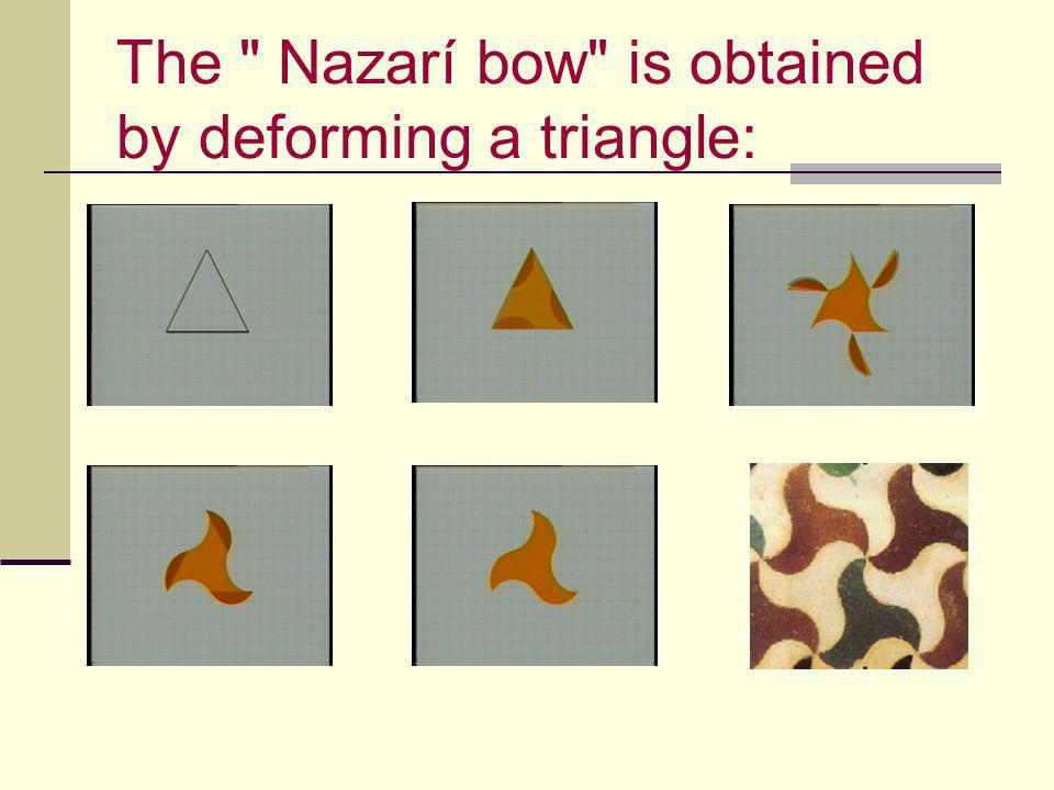 The Nazarí bow is obtained by deforming a triangle: