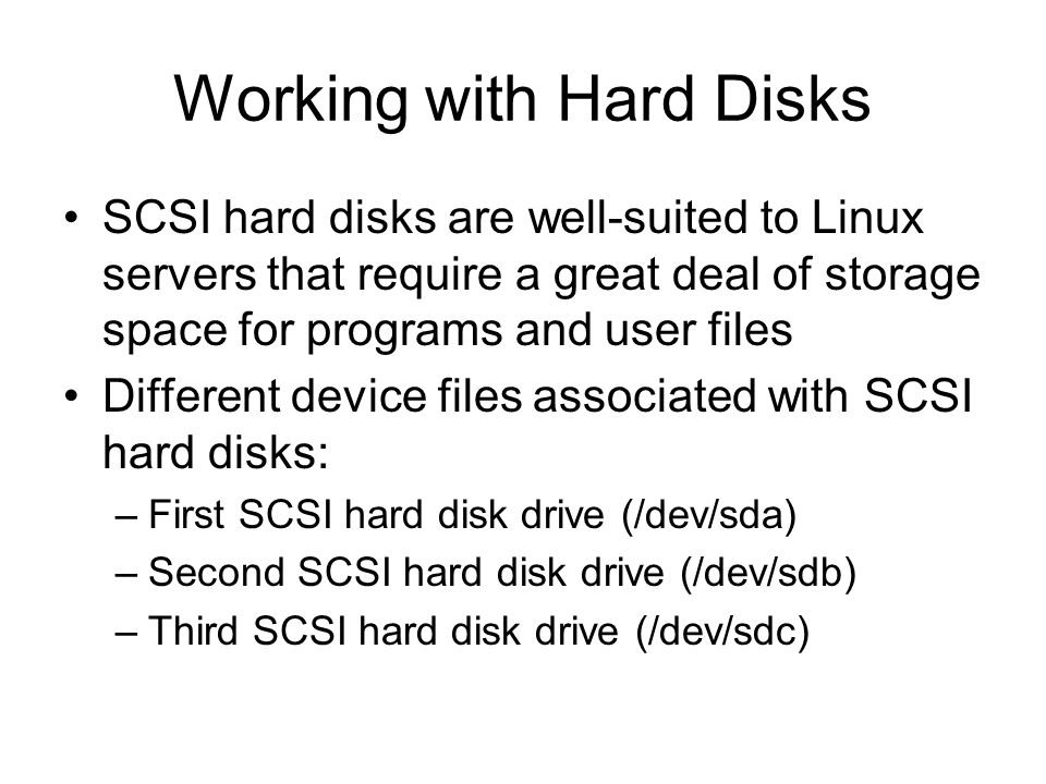 Working with Hard Disks