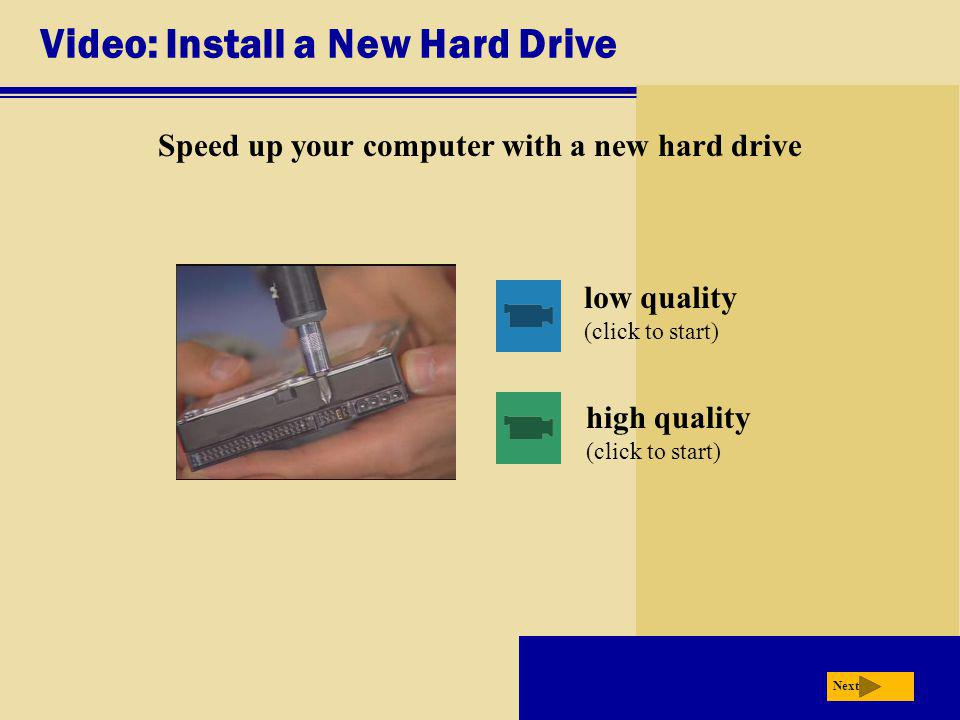 Video: Install a New Hard Drive