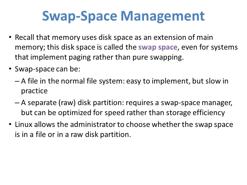 Swap-Space Management