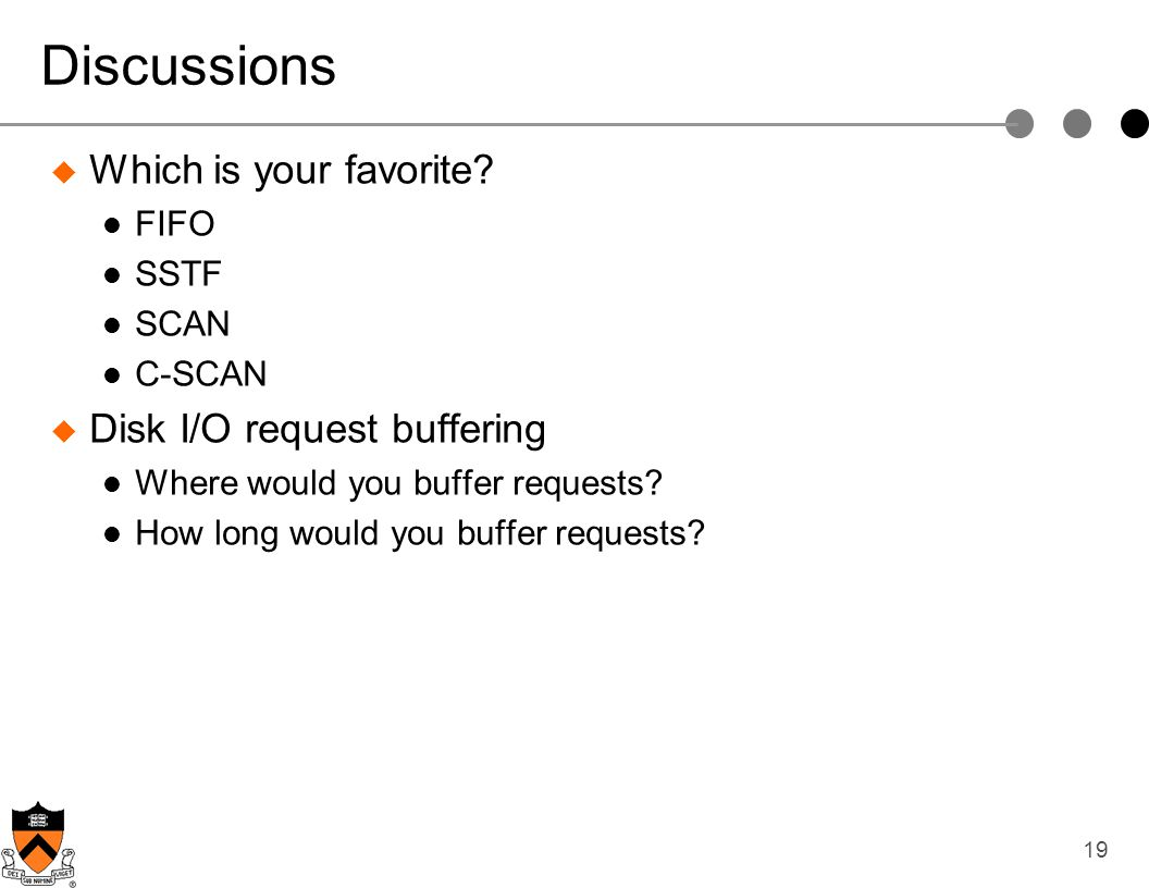Discussions Which is your favorite Disk I/O request buffering FIFO