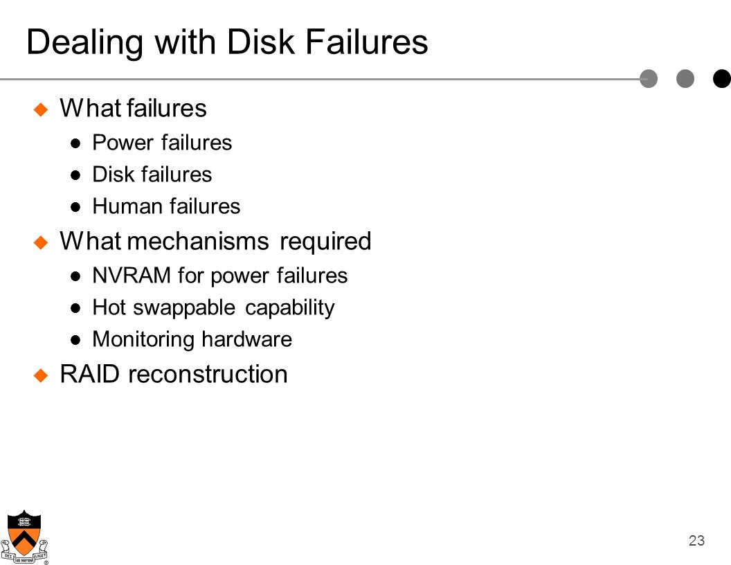 Dealing with Disk Failures