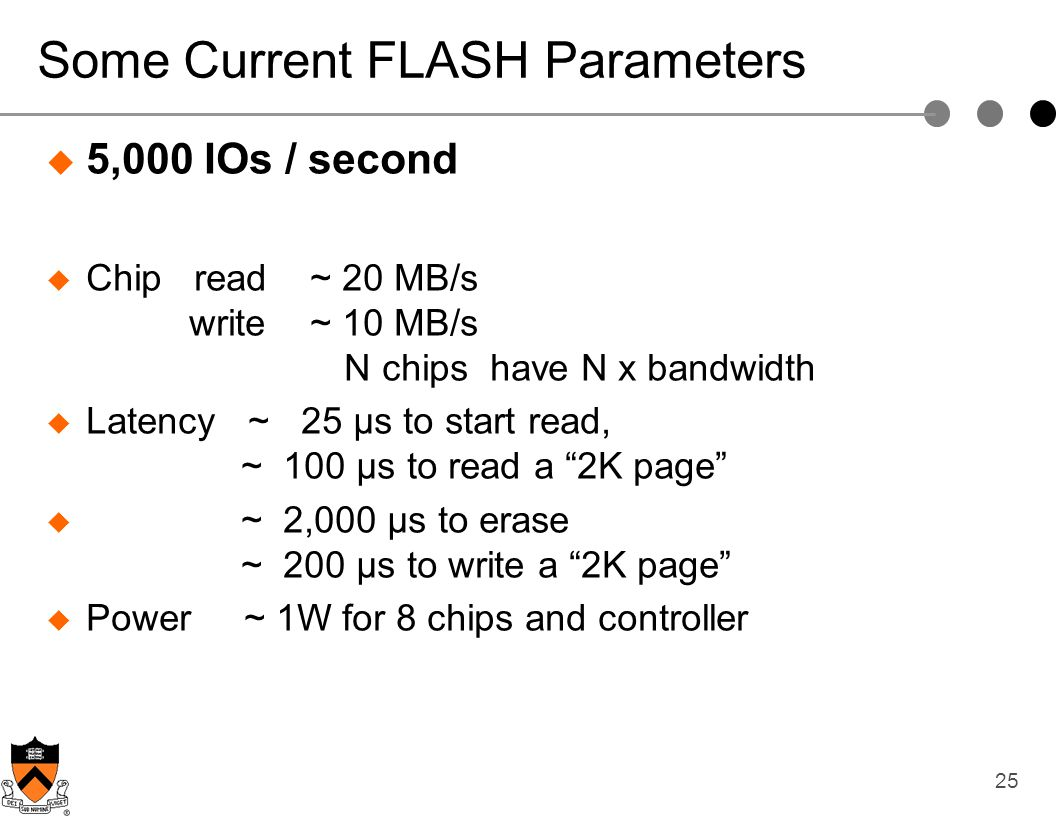 Some Current FLASH Parameters