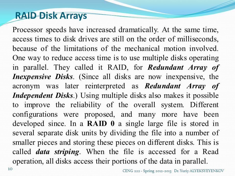 RAID Disk Arrays