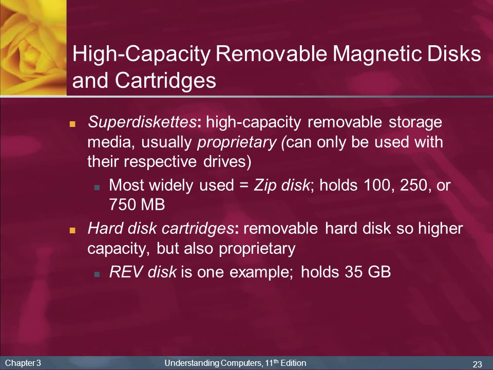 High-Capacity Removable Magnetic Disks and Cartridges