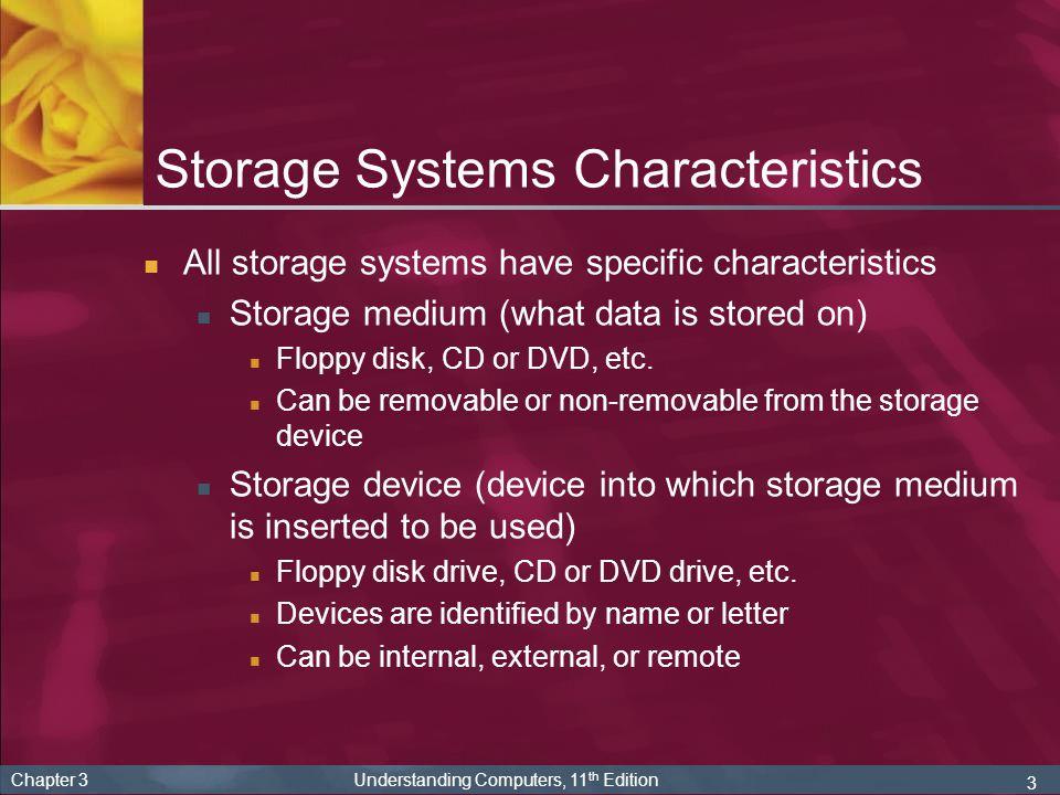 Storage Systems Characteristics