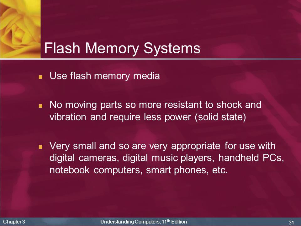 Flash Memory Systems Use flash memory media