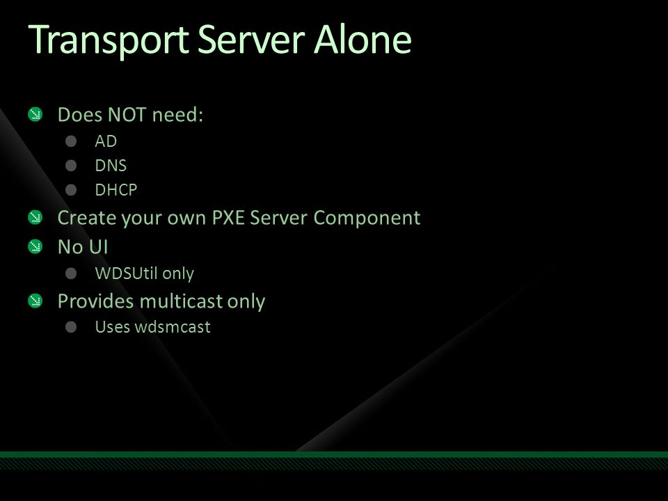 Transport Server Alone