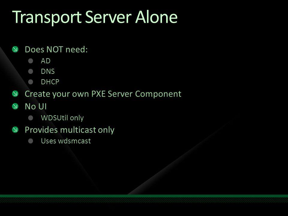 Transport Server Alone