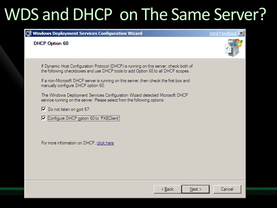 WDS and DHCP on The Same Server