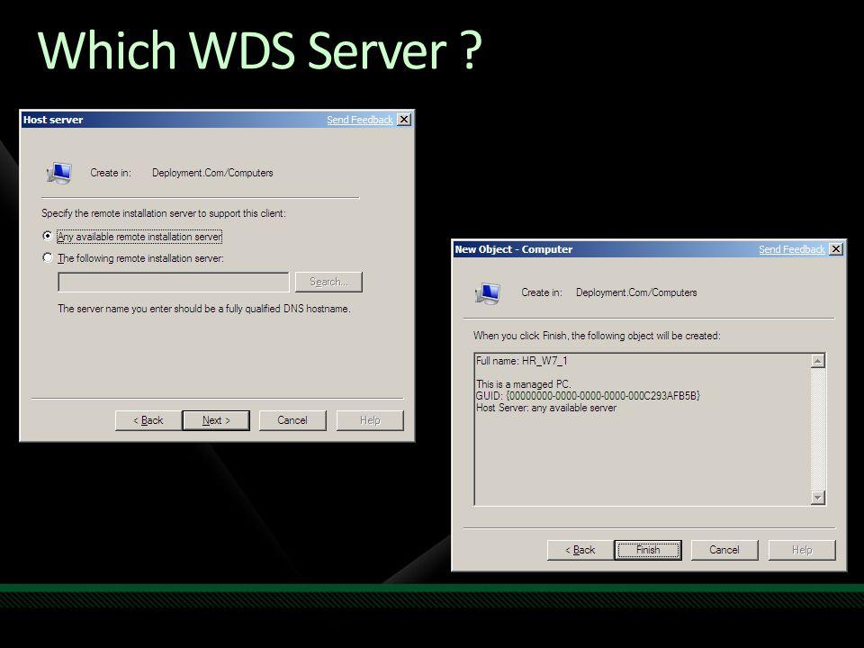 Which WDS Server