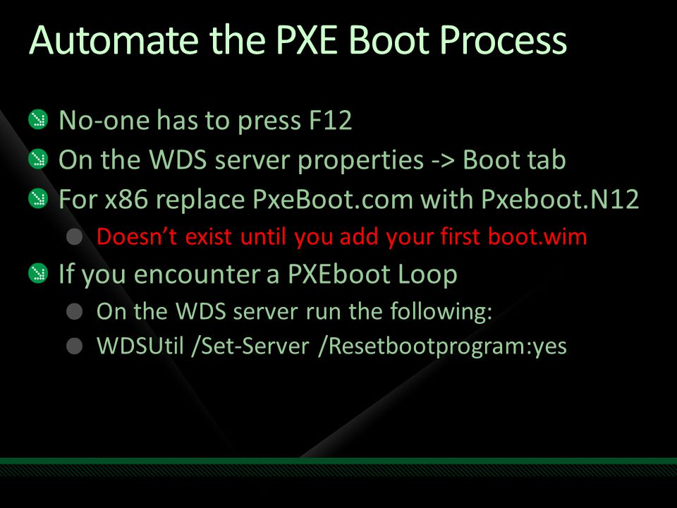 Automate the PXE Boot Process