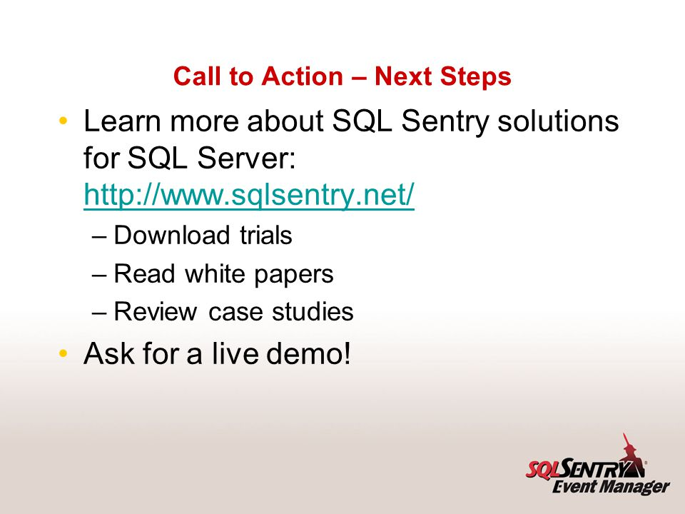 Follow-up Resources Start at www.sqlcat.com: They work on the largest, most complex SQL Server projects worldwide.