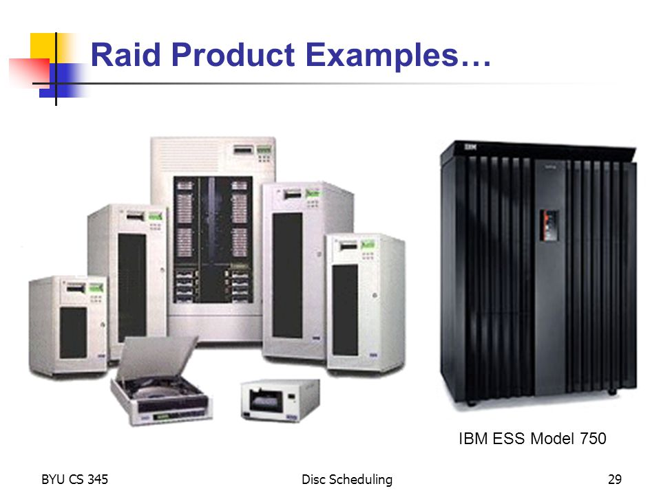Raid Product Examples…