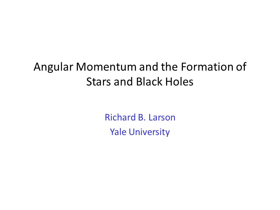 Angular Momentum and the Formation of Stars and Black Holes