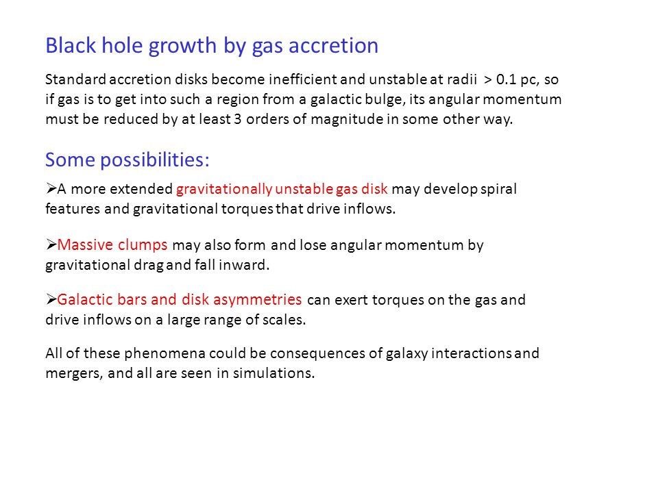 Black hole growth by gas accretion