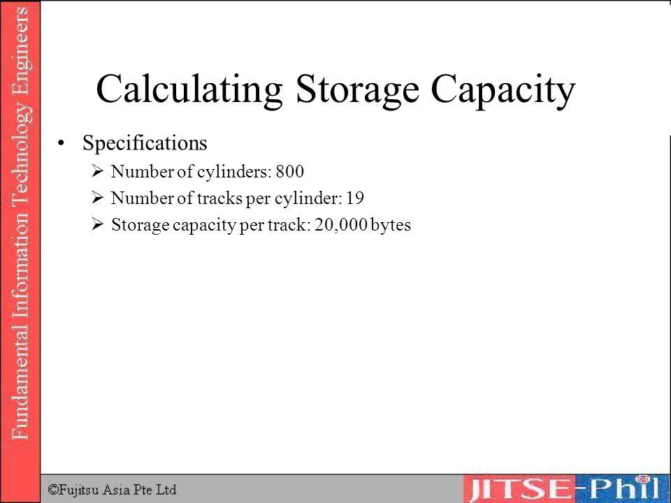 Calculating Storage Capacity