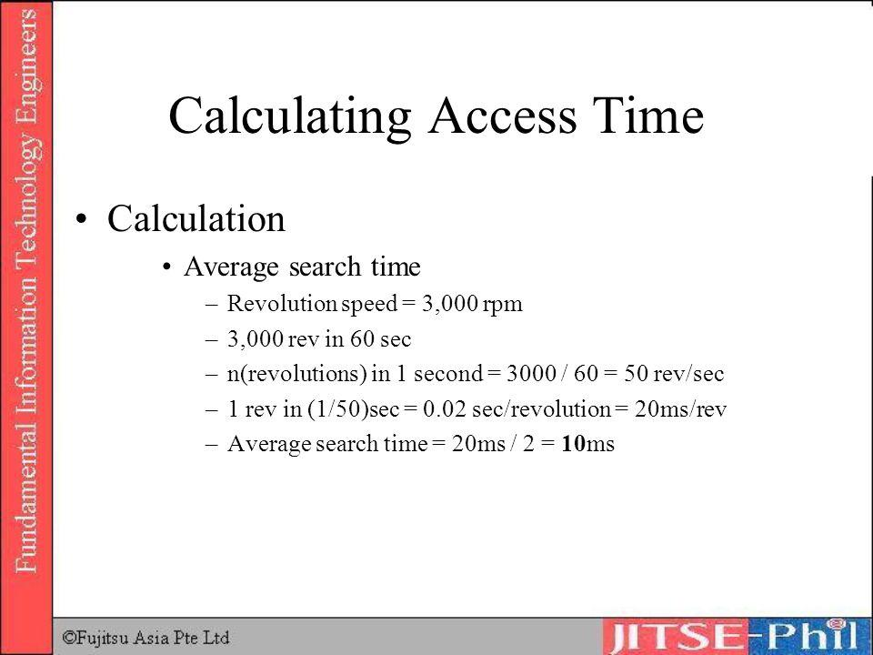 Calculating Access Time