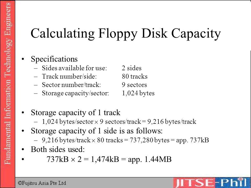 Calculating Floppy Disk Capacity