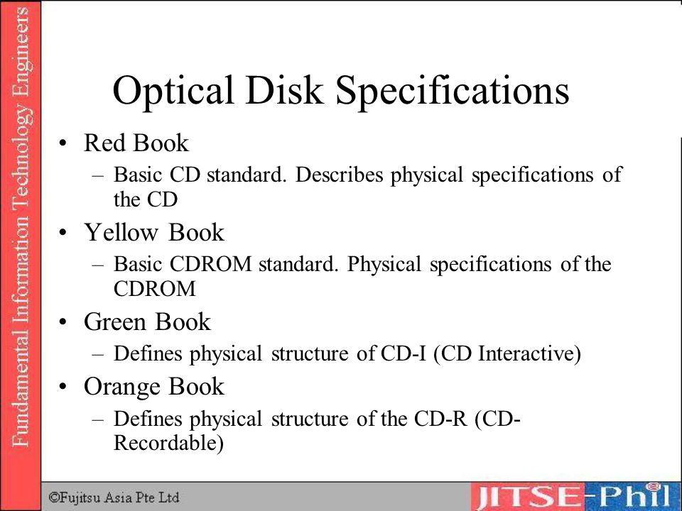 Optical Disk Specifications