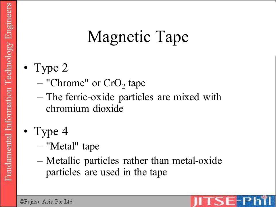 Magnetic Tape Type 2 Type 4 Chrome or CrO2 tape